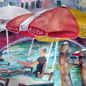 Cafe am Canale in Venedig 56x76 cm shop
