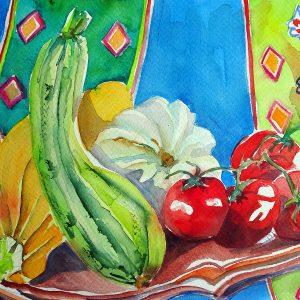 Zucchini und Tomaten shop