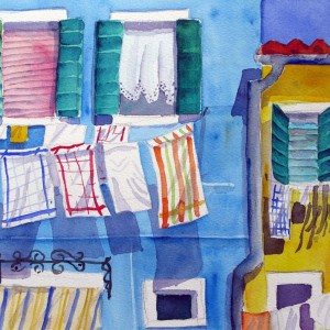 burano blu e giallo shop